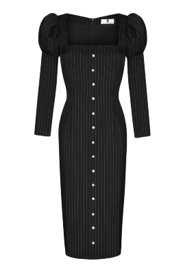 Черно золотистое платье доставка